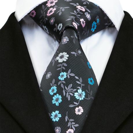 Ancona Silk Dress Tie // Black