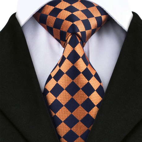 Barletta Silk Dress Tie // Orange