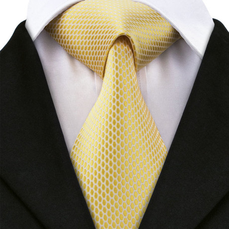 Bologna Silk Dress Tie // Gold