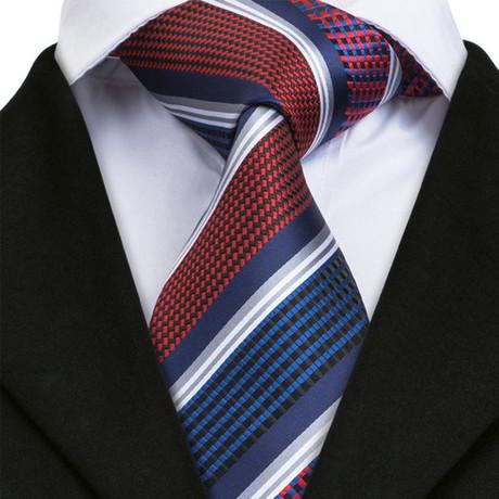 Aosta Silk Dress Tie // Red
