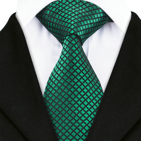 Ascoli Piceno Silk Dress Tie // Green