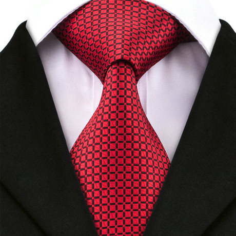 Bari Silk Dress Tie // Red