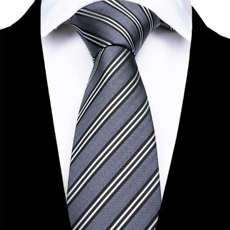 Forlì Silk Dress Tie // Gray