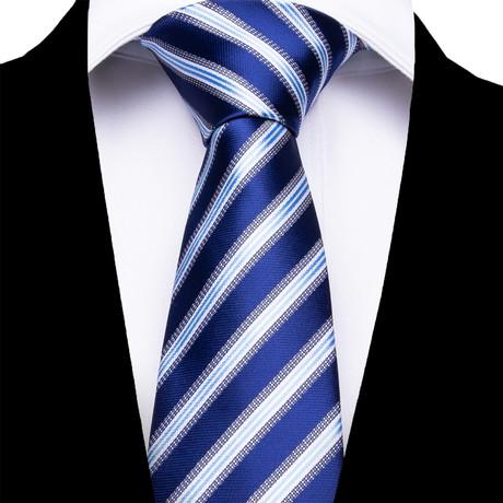 Enna Silk Dress Tie // Blue