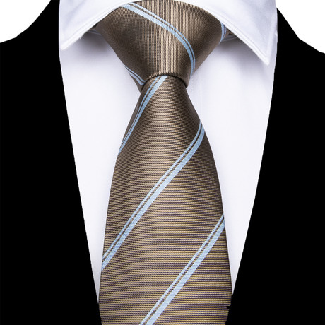 Ferrara Silk Dress Tie // Brown