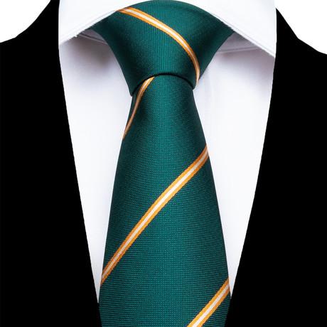 Foggia Silk Dress Tie // Green