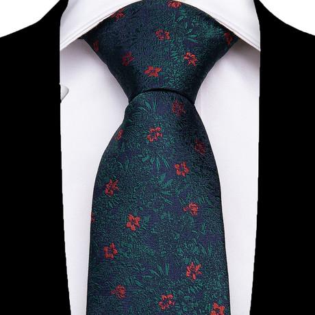 Laura Silk Dress Tie // Green