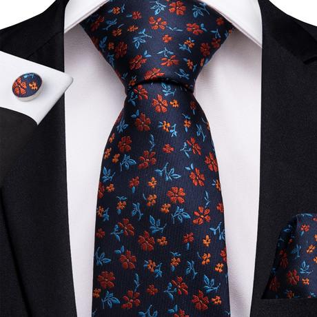 Valentina Silk Dress Tie // Navy Blue