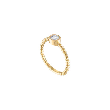 Estate 14K Yellow Gold Diamond Ring // Ring Size: 7.5