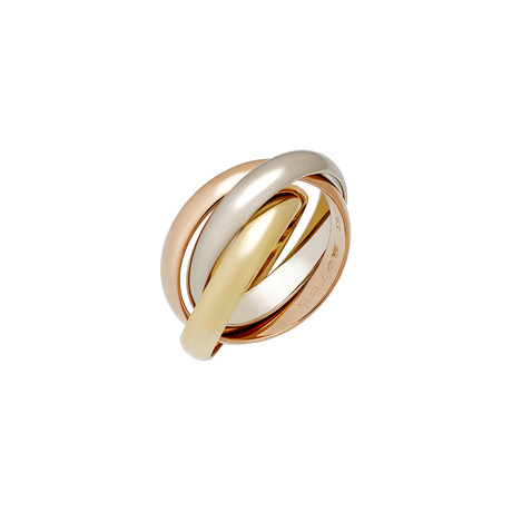 Vintage Cartier 18k Three-Tone Gold Trinity Ring // Ring Size: 6