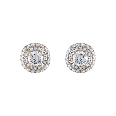 Estate 18k White Gold Diamond Earrings