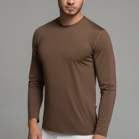 Long Sleeve Shirt II // Brown (S)