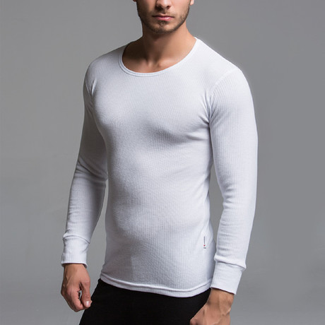 Thermal Long Sleeve Shirt // White (S)