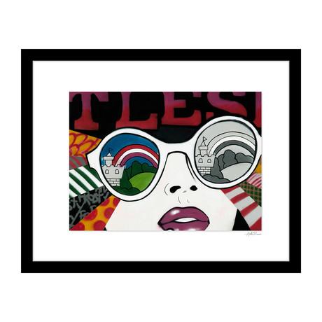 """Through Sunglasses Graffiti (14""""W x 18""""H x 4""""D)"""