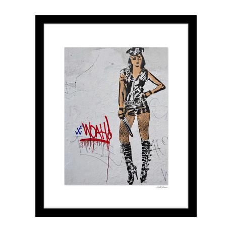 """Police Woman Graffiti (14""""W x 18""""H x 4""""D)"""