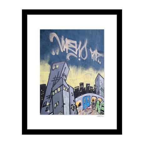 """Skyline Graffiti (14""""W x 18""""H x 4""""D)"""