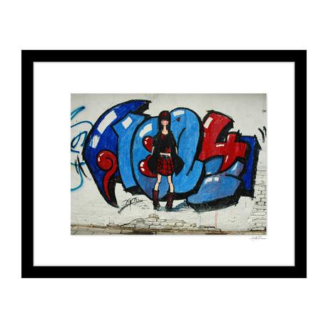 """Punk Rock Girl Graffiti (14""""W x 18""""H x 4""""D)"""