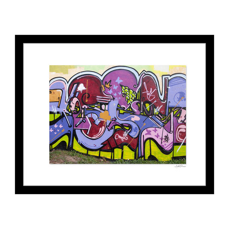 """Purple Shapes Graffiti (14""""W x 18""""H x 4""""D)"""
