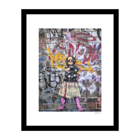 "Girl with Star Sweater Graffiti (14""W x 18""H x 4""D)"