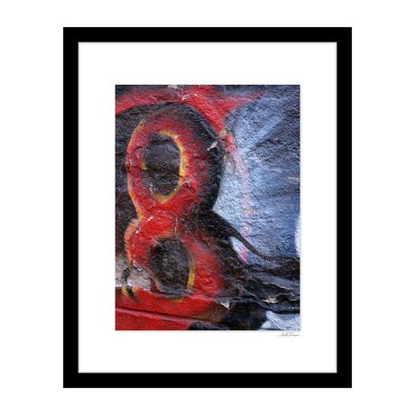 """Red Eight Graffiti (14""""W x 18""""H x 4""""D)"""