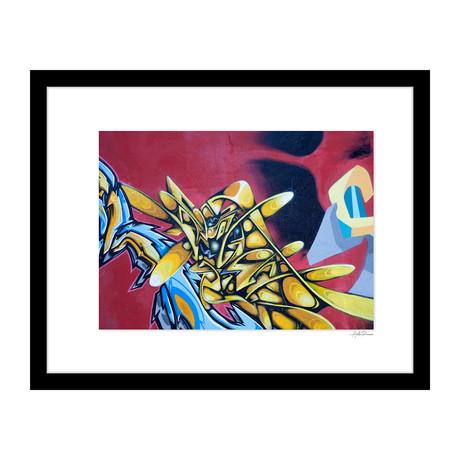 """Gold Surrealism Graffiti (14""""W x 18""""H x 4""""D)"""