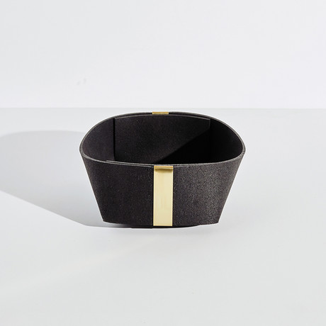 Rubber and Brass Basket // Medium (Royal)