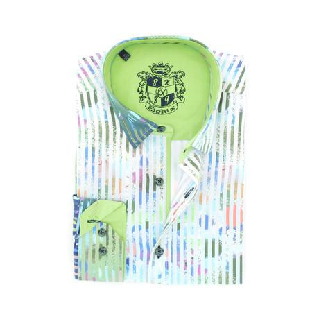 Robbie Print Button-Up Shirt // Multicolor (S)