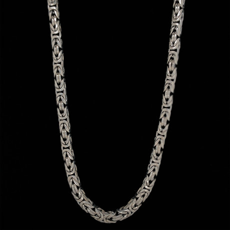 "Sterling Silver 6mm Bali Byzantine Link (20""L)"