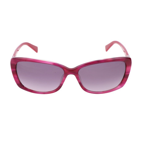 Pierre Cardin Women's Sunglasses // 8431 // Striped Cyclamen + Shiny Pink Fuchsia