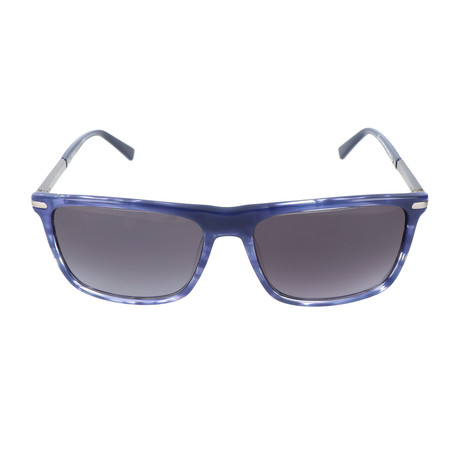 Pierre Cardin Men's Sunglasses // 6177 // Striped Blue + Matte Ruthenium