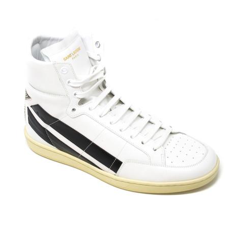 Yves Saint Laurent // Hi-Top Sneakers // Black + White (Euro: 39)
