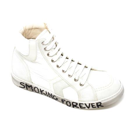 Yves Saint Laurent // Smoking Forever Sneakers // White (Euro: 39)