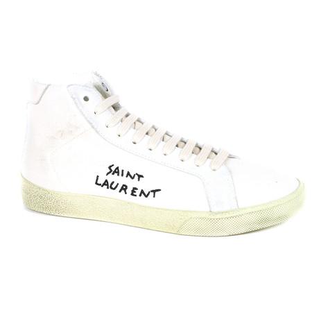 Yves Saint Laurent // Hi-Top Logo Sneakers // White (Euro: 39)