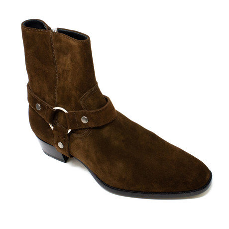 Yves Saint Laurent // Zip Boots // Brown (Euro: 39)