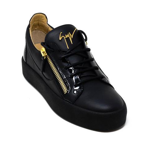 Giuseppe Zanotti // Zip Sneakers V2 // Black (Euro: 39)