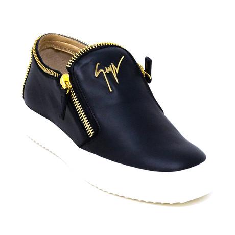 Giuseppe Zanotti // Zip Sneakers V! // Black (Euro: 39)
