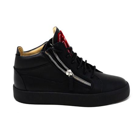 Giuseppe Zanotti // Hi-Top Zip Sneakers // Black (Euro: 39)