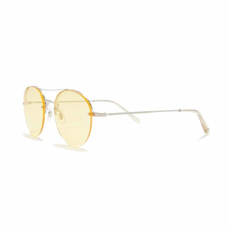 Beaumont Aviator Sunglasses // Gold + Yellow
