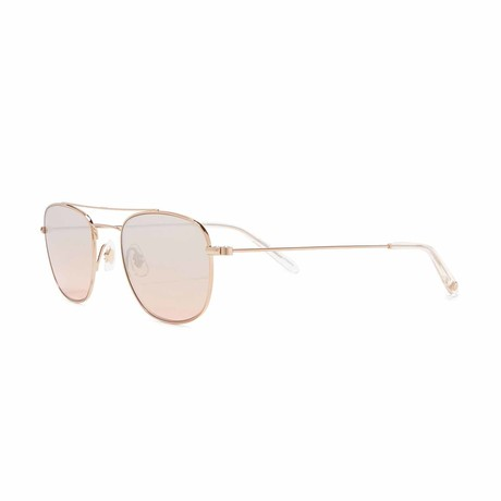 Club House Aviator Sunglasses // Gold + Brown