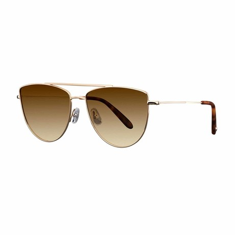 Zephyr Aviator Sunglasses // Gold + Brown