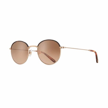 Cloy Round Sunglasses // Gold + Brown