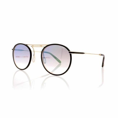 Cordova Aviator Sunglasses // Black Gold + Pink Gray