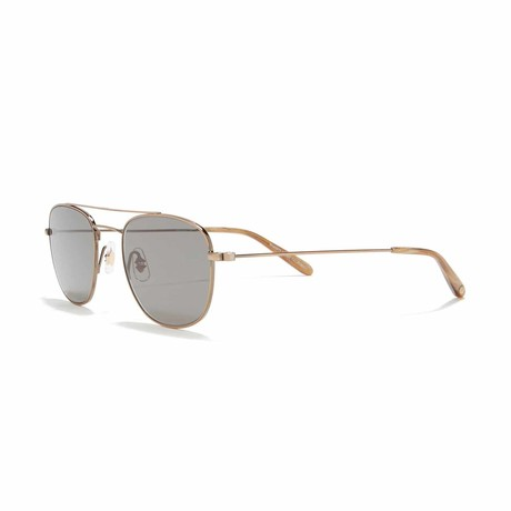 Club House Aviator Sunglasses // Antique Gold + Green