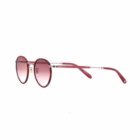 Wilson Round Sunglasses // Burgundy Marble + Wine