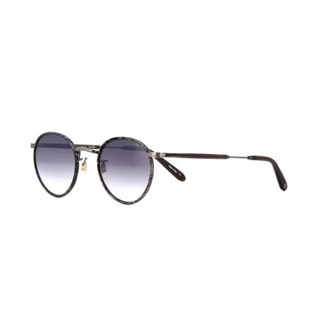Wilson Round Sunglasses // Silver Gray + Silver