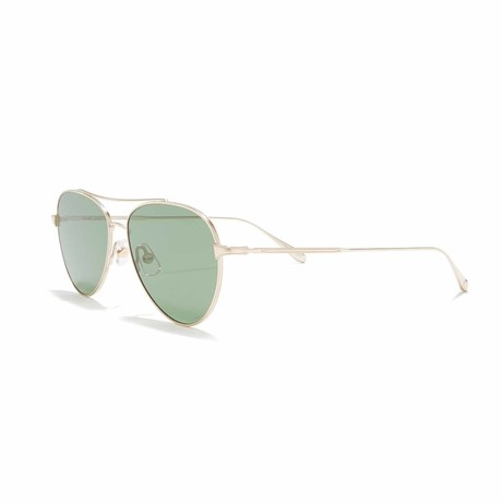 Culver Aviator Sunglasses // Gold + Green