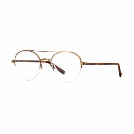 Manchester Aviator Eyeglasses // Gold Tortoise