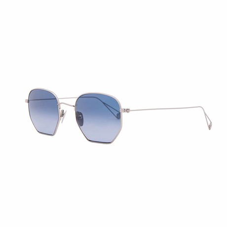 X Mark Mcnairy Liberty S/Plug Square Sunglasses // Silver + Blue