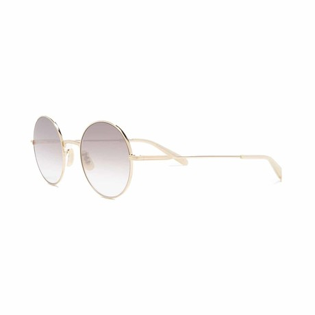 Seville Round Sunglasses // Gold + Gray
