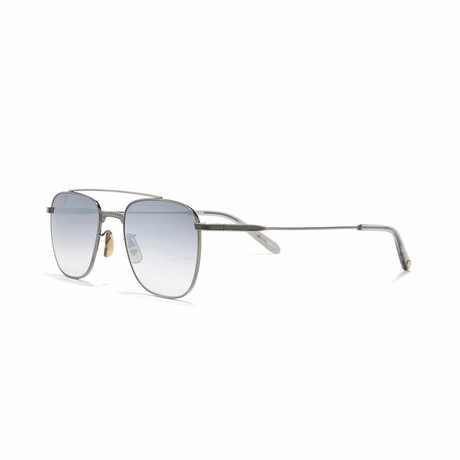 Riveria Aviator Sunglasses // Gunmetal + Gray